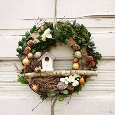 Spring wreath of Easter garland decoration Easter Spring wreath of decoration Easter . Easter Garland, Easter Wreaths, Christmas Wreaths, Christmas Decorations, Spring Door Wreaths, Summer Wreath, Diy Wreath, Garland Decoration, Crafts