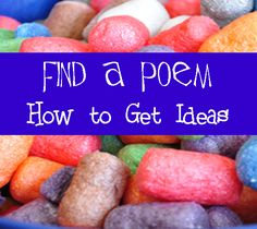 Easy Places to Find Poetry Ideas