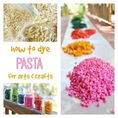 How to Dye Pasta for Arts and Crafts
