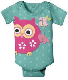 Lydia's 1st birthday is owl theme.  I love this onesie!