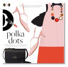 """So Dotty: Polka Dots"" by svijetlana ❤ liked on Polyvore featuring Lenora, Kate Spade, MAC Cosmetics, polkadot and zaful"