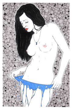 part of my new series entitled Naked Before done in ink and sharpie #nude #art #erotica