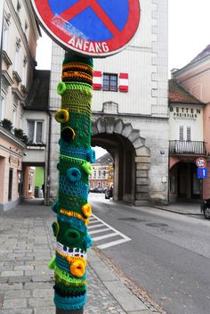 You know where that is, right! Yarn bomb