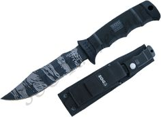 SOG Seal Pup Elite Tiger Stripe Knife w/ Nylon Sheath E37TS - $70.78