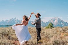 bride and groom in the teton mountains outdoor romantic elopement Teton Mountains, Destination Wedding Locations, Grand Teton National Park, Posing Ideas, Beautiful Stories, Elopement Inspiration, Elopements, Wedding Trends, Celebrity Weddings