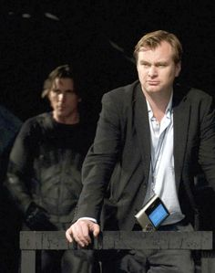 BTS of TDKR: Christopher Nolan and Christian Bale