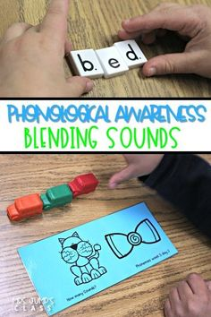 Teaching Phonological Awareness Blending sounds in kindergarten and 1st grade classrooms. Here are some fun activities you can do with your students in small group, as a student center, or as an intervention. See how we teach students onset and rime too!