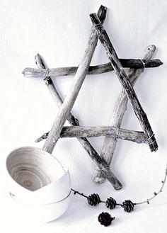 ster van houten stokken (evt.met lampjes)