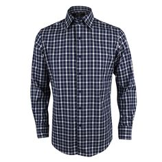 9549a568 Like and Share if you want this 2-Button Spread Collar Check Long Sleeve  Shirt