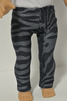 American Girl Doll Clothes Zebra Print Denim by CircleCSewing