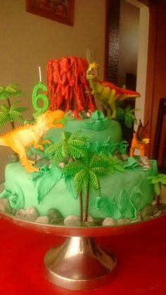 Torta de dinosaurios