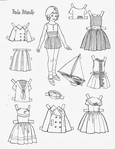 424 Best Coloring Paper Dolls Images On Pinterest In 2018