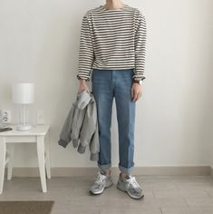 Hipster Outfits, Korean Outfits, Casual Outfits, Fashion Wear, Mens Fashion, Fashion Outfits, Aesthetic Fashion, Aesthetic Clothes, Japanese Street Fashion