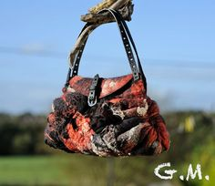 Felted Bag  Wool Hand Bags  Felted Wool PurseWet by gmcraftss, €54.00