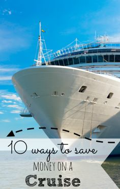 Tips for saving money on cruises. This is my goal for the yr, to take a cruise ;)