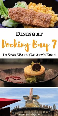 Docking Bay 7 in Galaxy's Edge - curious about the Star Wars themed food in Galaxy's Edge? A look at the menu, photos and reviews of the food, the story behind this restaurant, and more! Disneyland Dining, Disneyland Restaurants, Disneyland Food, Disney Drinks, Disney Food, Walt Disney, Disney Planning, Disney Tips, Star Wars Themed Food