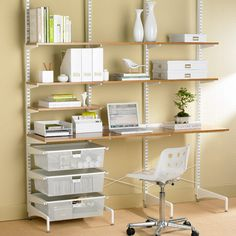 (I want this office) diy home office ideas | ... Storage Idea For A Home Office » Shelving Units For A Home Office