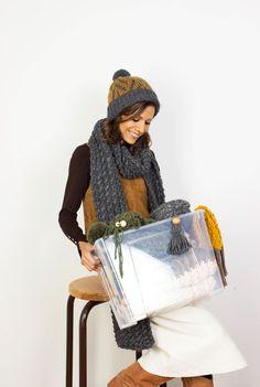Strickschals - Alpakaschal XL Schal Grobstrick Dunkelgrauer Schal - ein Designerstück von amjasnet bei DaWanda