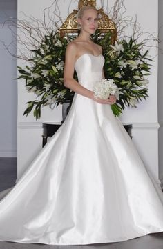 Sweetheart A-Line Wedding Dress  with Natural Waist in Silk Satin. Bridal Gown Style Number:33291949