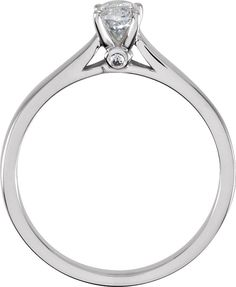 1/2 ct tw Marquise Cut Diamond Cathedral Ring in Continuum Sterling Silver