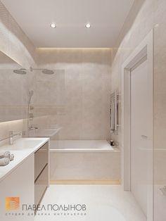 Фото: Дизайн ванной комнаты - Интерьер однокомнатной квартиры в современном стиле