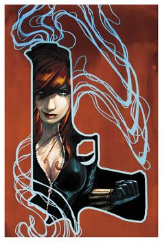 marvel's black widow comic art | Fashion and Action: Black Widow - Comic Art by Stephanie Hans