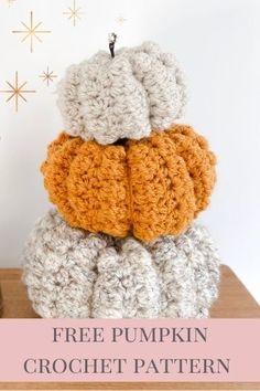 Crochet Gifts, Diy Crochet, Crochet Ideas, Crochet Pumpkin Pattern, Pumpkin Patterns, Fall Patterns, Crochet Fall Decor, Autumn Crochet, Crochet Leg Warmers