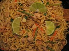 Pancit Canton from Food.com: Traditional Asian Filipino noodle dish With vegetables, chicken, pork and shrimp.