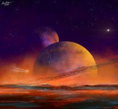 ArtStation - Exploration of new worlds, Attila Gallik (forgedOrder) Celestial, Explore, Planets, Digital, World, Artwork, Painting, Attila, The World
