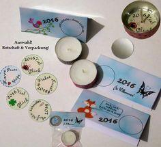 Jahreswechsel - Teelicht-Botschaft + rubbeln von ღKreawusel-Designღ auf DaWanda.com