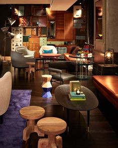 Regina, this mixed seating goes with the idea of many different types and opportunities. QT Sydney is a great space, not suggesting it ends up over the top like this though!