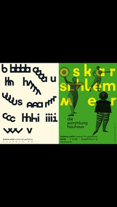 Posters by Sascha Lobe -   l2m3.com    for the Bauhaus Archiv