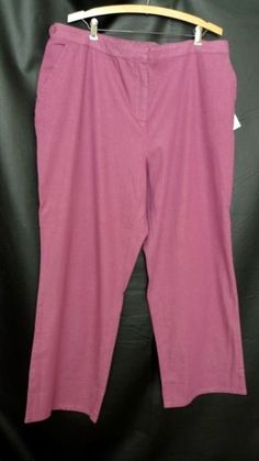 Womens Cotton Blend Light Raspberry Pants Size 2x Denim & Co #DenimCo #CasualPants