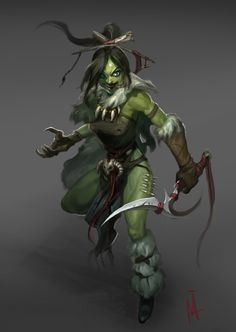 ArtStation - Orc girl, Minhee Kim