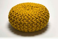 love this pouf! it's knitted but hmmm, i wonder...
