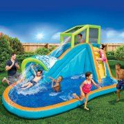 Banzai pipeline water park inflatable slide with pool for backyard aqua sports large outdoor ideas kids