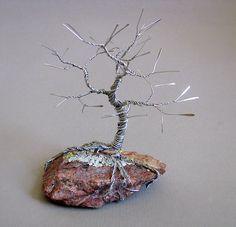 Sleeping Tree Wire Sculpture