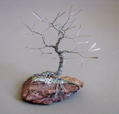 Sleeping Tree Wire Sculpture