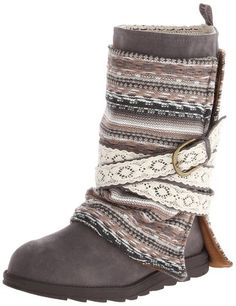 Make boot covers to give yourself a second or third pair of muk luks womens nikki belt wrapped boot grey 7 m us diy solutioingenieria Choice Image