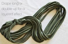 Jersey Knit Necklace tutorial with pictures! by Kimarm00