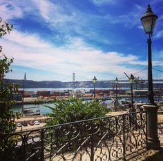 View over the river Tagus. / #Santos #Lisbon #Portugal / #parklife #views #river #bluesky