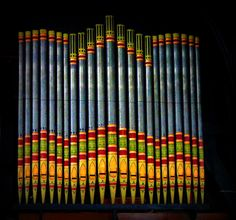 Guyana--organ pipes in St. George's Cathedral