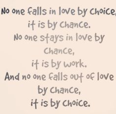 No one falls in love by choice quote quotes and sayings image quotes picture quotes