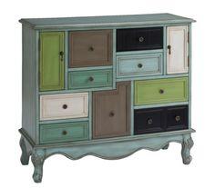 Fun multi colored dresser