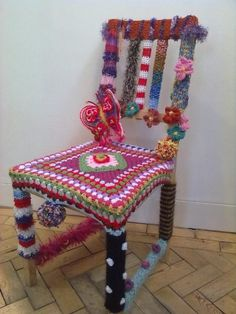 The 'Knit Corsham' Chair @ The Pound Art Centre Cafe. It just gets better.