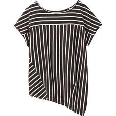 【セール】[L]ストライプ切り替えカットソー(UNTITLED [アンタイトル] のTシャツ)|iQON