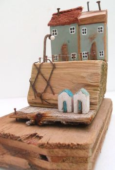 READY TO SHIP Nautical Driftwood House, Driftwood Cottage, Driftwood Harbour…