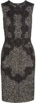 Dolce & Gabbana Lace-appliqué wool-blend tweed dress on shopstyle.com