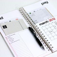 2012 bills calendar