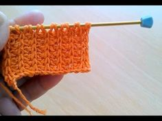 Tunisian Crochet - Business New Model Making 10 (IN TURKISH - If you are familiar with Tunisian Crochet you can watch this video to learn this stitch... The video is good... Deb)